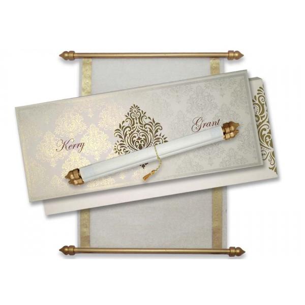 royal wedding scroll invitation cards scroll invites with box